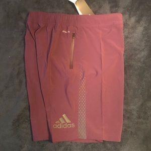 Adidas Tennis Shorts Maroon Climalite Small